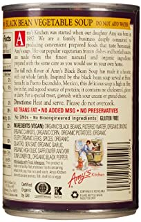 Amy's Organic Soups, Low Fat Black Bean Vegetable, 14.5 Ounce