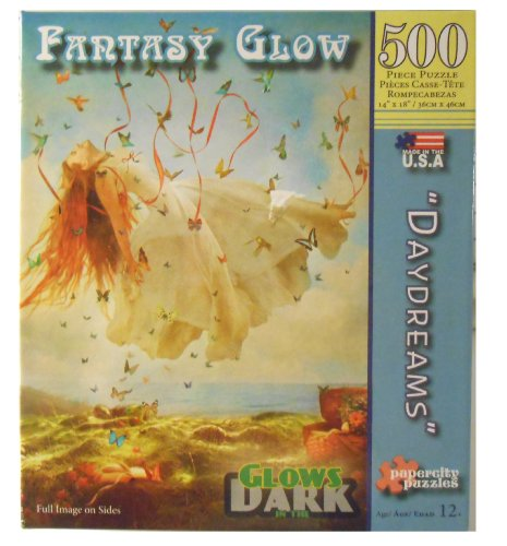 "Fantasy Glow Glows in the Dark 500 Pc Puzzle ""Daydreams"""