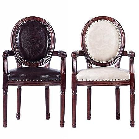 LQK MOBILI-Legno massello sedie da pranzo insieme di due,b,56*55*97