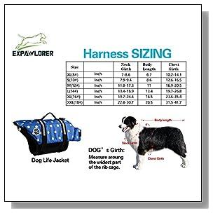 EXPAWLORER Blue Dots Xsmall Designer Dog Life Jacket with Paw Pet Saver Vest Coat Flotation Float Aid Buoyancy
