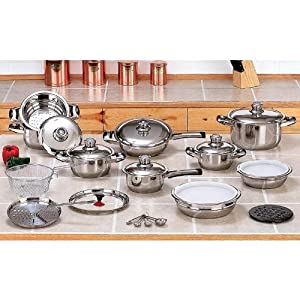 28 pc. T304 Surgical Stainless Steel, Waterless Cookware set NEW!!