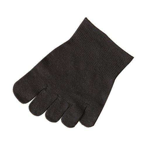 (Tabio)しっとり絹のやさしいつま先五本指24~26cm チャコールグレー