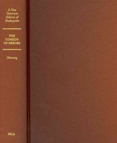 The Comedy of Errors (New Variorum Editions of Shakespeare) (A New Variorum Edition of Shakespeare)