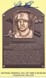 Pedro Martinez autographed gold hall of fame plaque postcard with Kevin Keating LOA