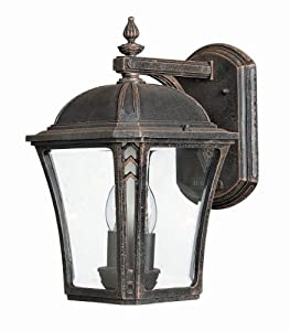 "Hinkley Lighting H1334 13.75"" Height 2 Light Lantern Outdoor Wall Sconce from th, Mocha"