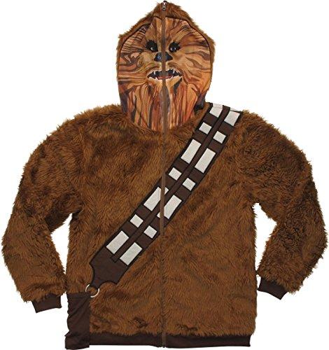 Star Wars Chewbacca Hoodie Mask Zip Medium