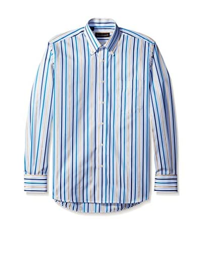 Kenneth Gordon Men's Multi Stripe Button Down Sportshirt