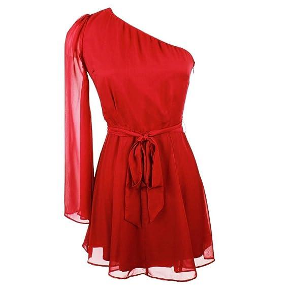 Ark Co Women's Vogue One Shoulder Dress