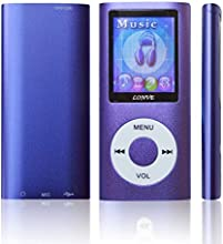 Lonve Music Player 16GB MP4/MP3 Player Purple 1.81'' Screen MP4 Music/Audio/Media Player with FM Radio