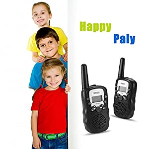 Joylor Durable Walkie Talkies Twin Toy for kids,Easy To Use and Kids Friendly 2-Way Radio 3-5KM Range Interphone Outdoor Camping Hiking -Black
