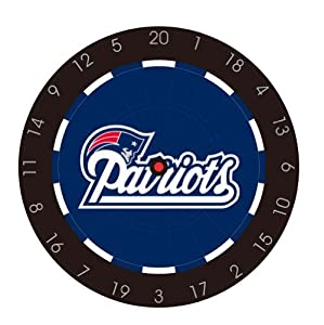 NFL New England Patriots Bristle Dart Board With Darts And Flights by Imperial