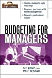 img - for Budgeting for Managers (text only) 1st (First) edition by E. Dunbar S. Kemp book / textbook / text book