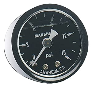 Fragola Fuel Pressure Gauge 0-15 PSI, Liquid Filled