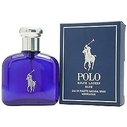Polo Blue by Ralph Lauren for Men Eau De Toilette Natural Spray 1.3 Ounce