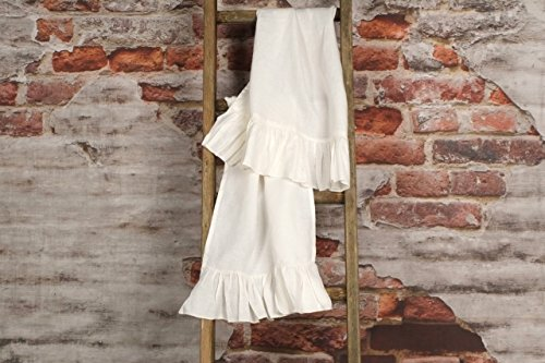 Ruffled Linen Vintage Style Hand Towel - Pair of Washed Linen hand towels (Vintage Bath Towels compare prices)