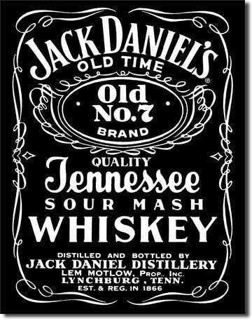 Tin Sign : Jack Daniel's Black Tin Sign : Jack