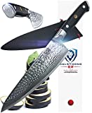 """DALSTRONG Chef's Knife - Shogun Series X Gyuto - Japanese AUS-10V - Vacuum Treated - Hammered Finish - 8"""" - w/Guard"""