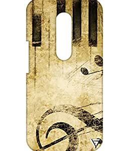 Vogueshell Musical Design Printed Symmetry PRO Series Hard Back Case for Motorola Moto G4