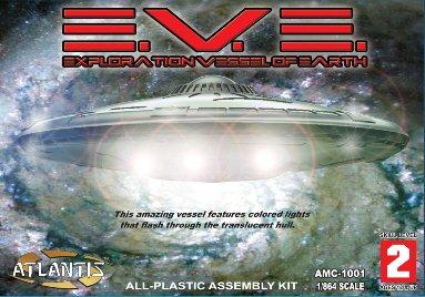 EVE Flying Saucer UFO Model kit with lights Atlantis Model Company