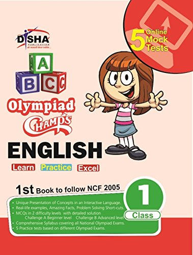 Olympiad Champs English Class 1 with 5 Mock Online Olympiad Tests