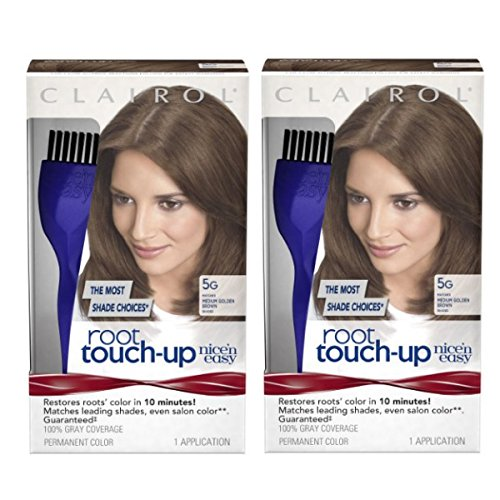 Clairol Nice 'n Easy Root Touch-Up 5G Matches Medium Golden Brown Shades 1 Kit, (Pack of 2)