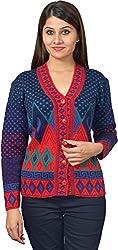 KTC Women's Wool Regular Fit Cardigan (651-V37, Move, 38)