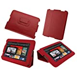 RooCASE Ultra Slim (Red) Leather Case Cover Cover With Stand For Amazon Kindle Fire 7-Inch Android Tablet (NOT...