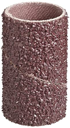 """3M  Cloth Band 341D, 3/4"""" Diameter x 1-1/2"""" Width, 36 Grit, Brown (Pack of 100)"""