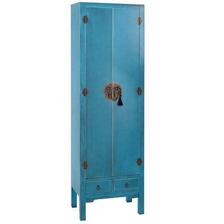 IXIA-Mueble Auxiliar - Cómoda/Armario Colección Oriente 2 puertas color Azul - iBERGADA