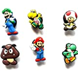 6 St. Satz # 1 des Schuh Schmucken Nintendo Super Mario Brüder