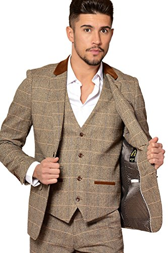 Tweed swatches can be ordered if you Exceptional Men's 3 Piece Tweed Suit made in Scotland in authentic custom or in-stock tartans. Made to measure men's tweed 3 piece suit in the tweed of your choice.
