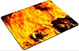 Luxlady Mousepads Red Fire and Flames Background IMAGE 25907363 Customized Art Desktop Laptop Gaming mouse Pad