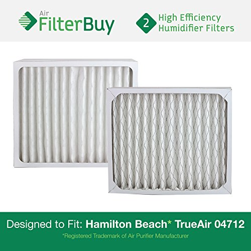 2 - 04712 Hamilton Beach True Air Replacement Air Purifier Filters. Designed by FilterBuy to Fit True Air Model # 04381. (04712 Hamilton Beach compare prices)