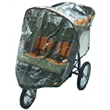 Sashas Rain and Wind Cover for Baby Trend Front Swivel Wheel Double Expeditions Stroller