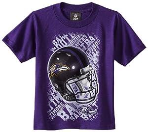 NFL New Orleans Saints 8-20 Boys Line of Football S/S Tee (Black, Medium)