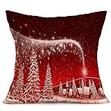 Euone Christmas Pillow Case Sofa Waist Throw Cushion Cover Home Decor