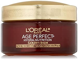 L'Oreal Paris Age Perfect Hydra-Nutrition Golden Balm Face, Neck & Chest, 1.7 Fluid Ounce