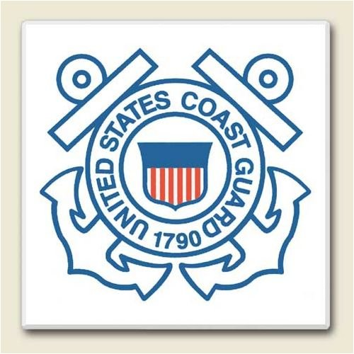 AbsorbaStone Coaster set~ Coast Guard ~4 Tile Drink Coasters ~ code 554