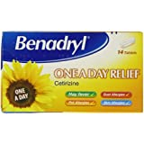 Benadryl One A Day Allergy Relief Tablets Pack of 14