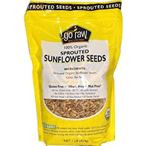 Go Raw - 100% Organic Sprouted Sunflower Seeds - 1 lb.