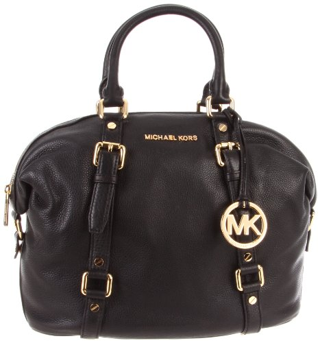 Michael Michael Kors Bedford Satchel,Black,One Size
