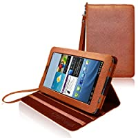 COD(TM) Stand Leather Case For Samsung Galaxy Tab 2 7.0 (Brown) from CrazyOnDigital