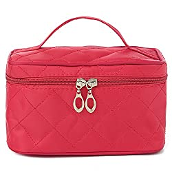 Diwali Gifts for Women Cosmetic Bag cum Travel Organizer - Rose Pink (PU-001152-COSTBG-ROSE)