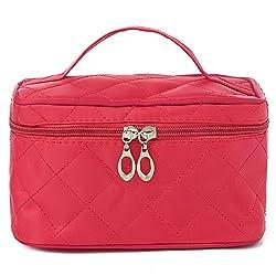 Diwali Gifts for Women Cosmetic Bag cum Travel Organizer - Rose Pink (PU-001152-COSTBG-ROSE)
