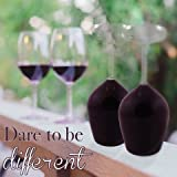 Kopf Glas Wein hinunter Satz von 2 ~ wagen, anders zu sein