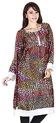 MARMITTE Women's Polyester Empire Kurtas (MMT-80_S, Multi-Color, S)