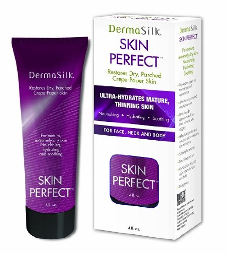 Dermasilk Skin Perfect - Anti Aging Moisturizer Cream Diminishes Wrinkles on Face, Neck & Body 4 oz.