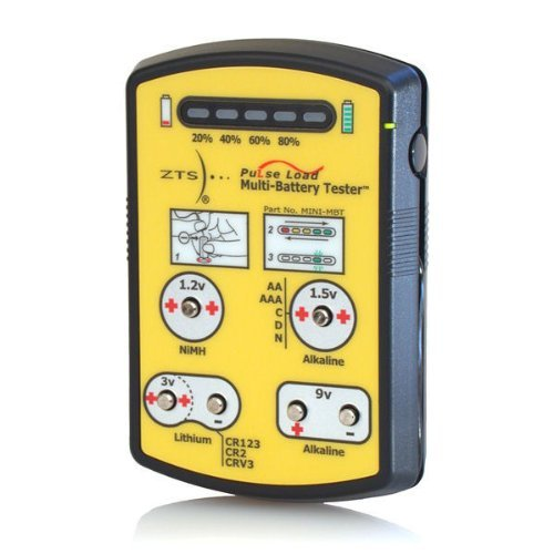 Zts Minimbt - Mini Multi-Battery Tester - For More Than 15 Battery Types