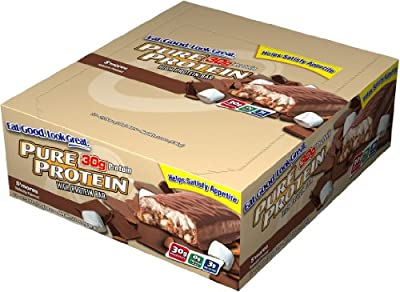 Pure Protein High Protein Bar, S'mores, 2.75-Ounce Bar, 12-Count