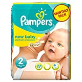 Pampers New Baby Size 2 (Mini) Monthly Pack - 240 Nappies